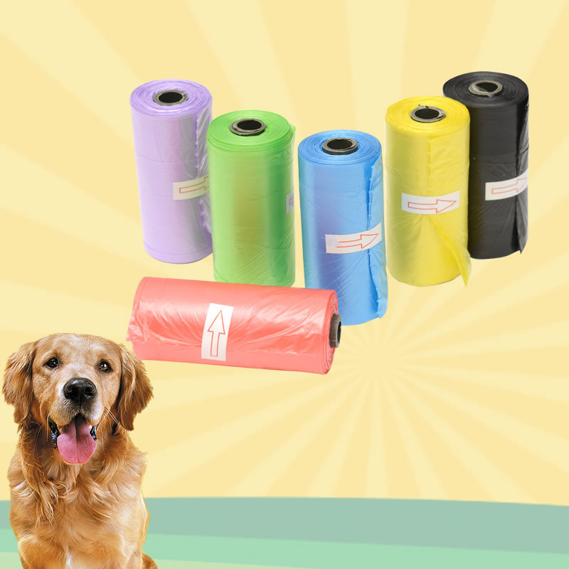 Pet Supply 1Rolls 15pcs  Cat Dog Poop Bags Outdoor Home Clean Refill Garbage Bag