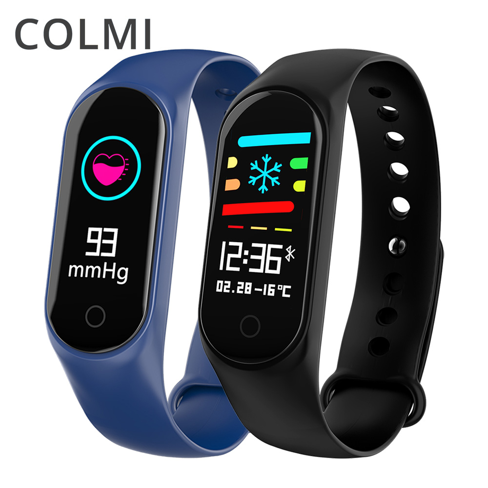 COLMI M3S Inteligente Pulseira Cor-screen IP67 Rastreador De Fitness Heart Rate Monitor de pressão arterial Inteligente Para Android IOS telefone