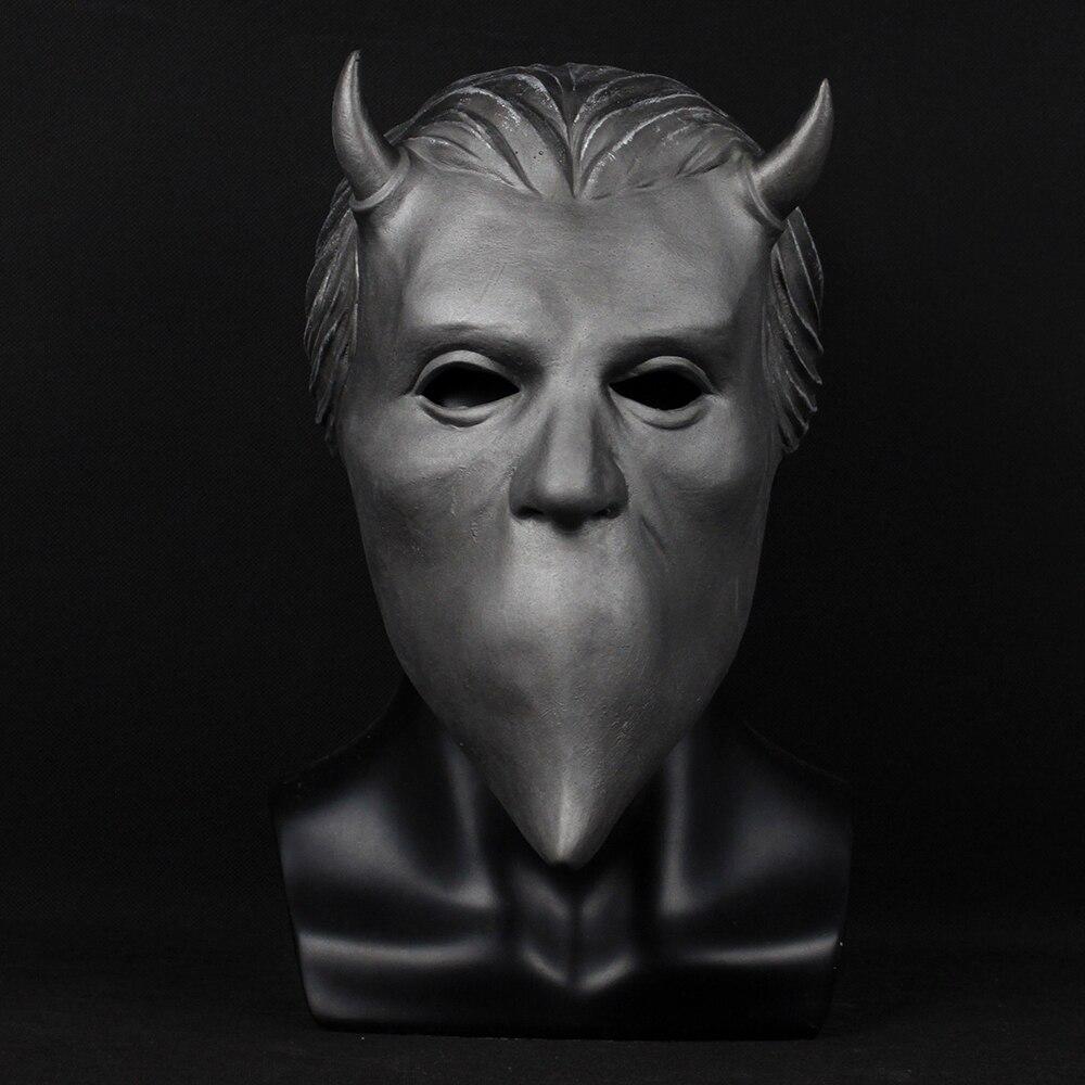 Ghost Nameless Ghouls Mask Cosplay Ghost B.C Heavy Metal Doom Hard Rock Roll Band Latex Helmet Masks Halloween Party Props2