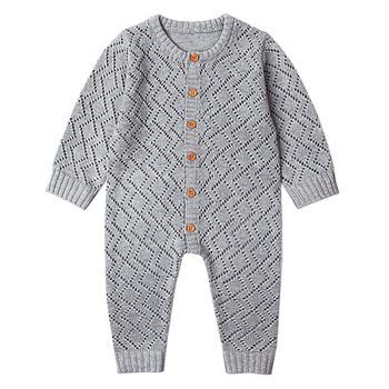 2019 nowonarodzone dziecko śpioszki dla chłopców kombinezon dla malucha dziewczyny cukierki kolor dzianiny ubrania dla niemowląt niemowlę chłopiec ogólnie dzieci strój wiosna tanie i dobre opinie Kacakid Poliester Akrylowe Stałe Unisex Swetry Pajacyki Pełna O-neck Baby Rompers Newborn Baby Clothes Cotton Pasuje prawda na wymiar weź swój normalny rozmiar