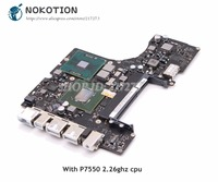 Placa Lógica Para MacBook pro A1342 820-2567-A NOKOTION Laptop Motherboard 2009 Ano MCP79MXT-B3 DDR3 P7550 2.26 ghz CPU