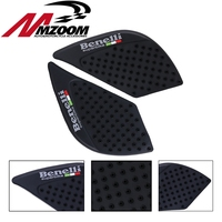 Free Shipping Motorcycle Black Red Tank Traction Pad Knee Grip Protector Anti Slip Adhesive For Benelli