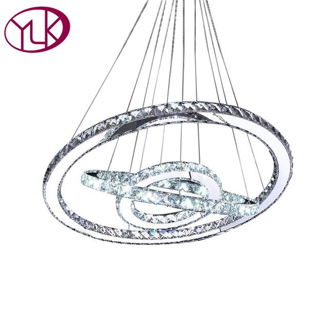 Moderne LED Diamant Ring Kronleuchter Chrom Edelstahl Hochglanzpoliert  Zimmer Hängelampe LED Kronleuchter Lüster Cristal Lampen