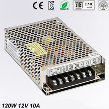 цена на Mini size 120W 12V 10A LED Switching Power Supply Transformer 120w 12v power supply adjustable voltage MS-120-12