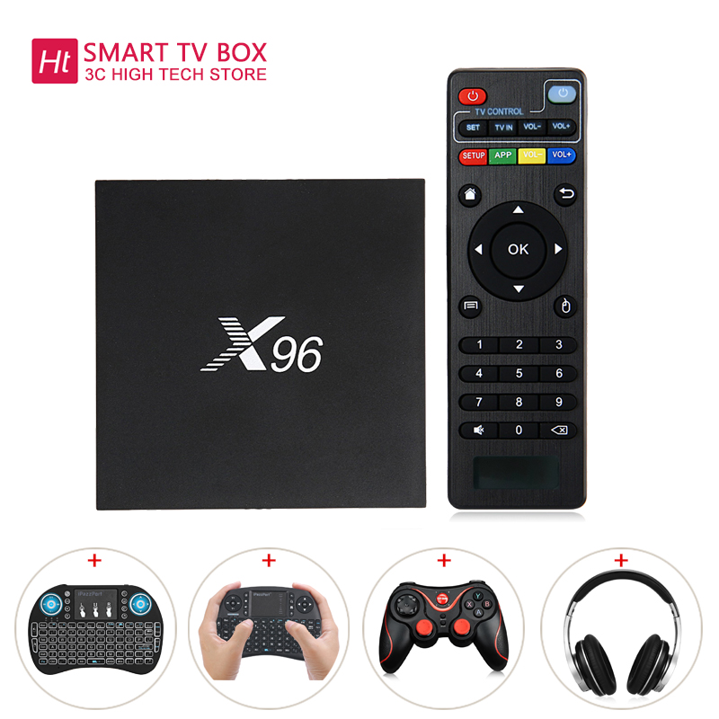 X96 Android 6.0 OS Amlogic S905X Quad Core Cortex-a53-prozessor 2,4 GHz 2 GB 16 GB WiFi TV Box echtzeit 4 Karat UHD Display Online Media Player