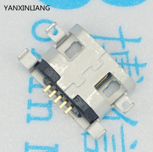 50pcs Micro USB Connector 5pin 0.8mm B Type With hole Female For Mobile Phone Micro USB Jack Connector 5 pin Charging Socket