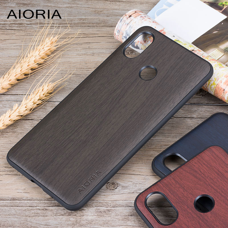 Wooden design case for Xiaomi mi max 3 soft TPU silicone material with PC with wood PU leather skin covers coque fundas wood