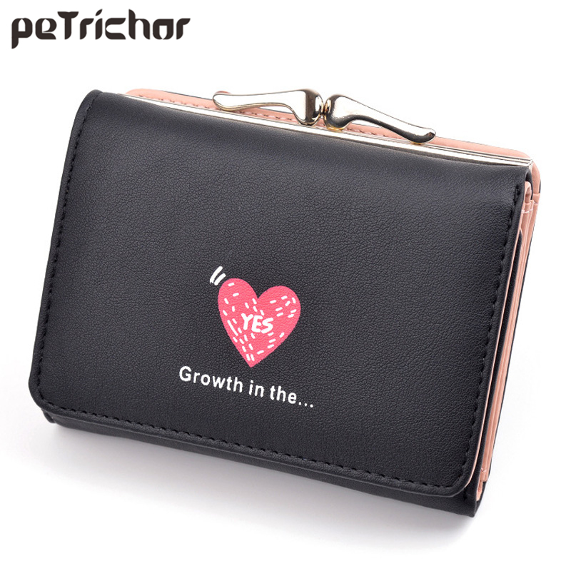 Purse Coin Ladies Womens Soft Leather Tri-Fold Money Credit Card Holder