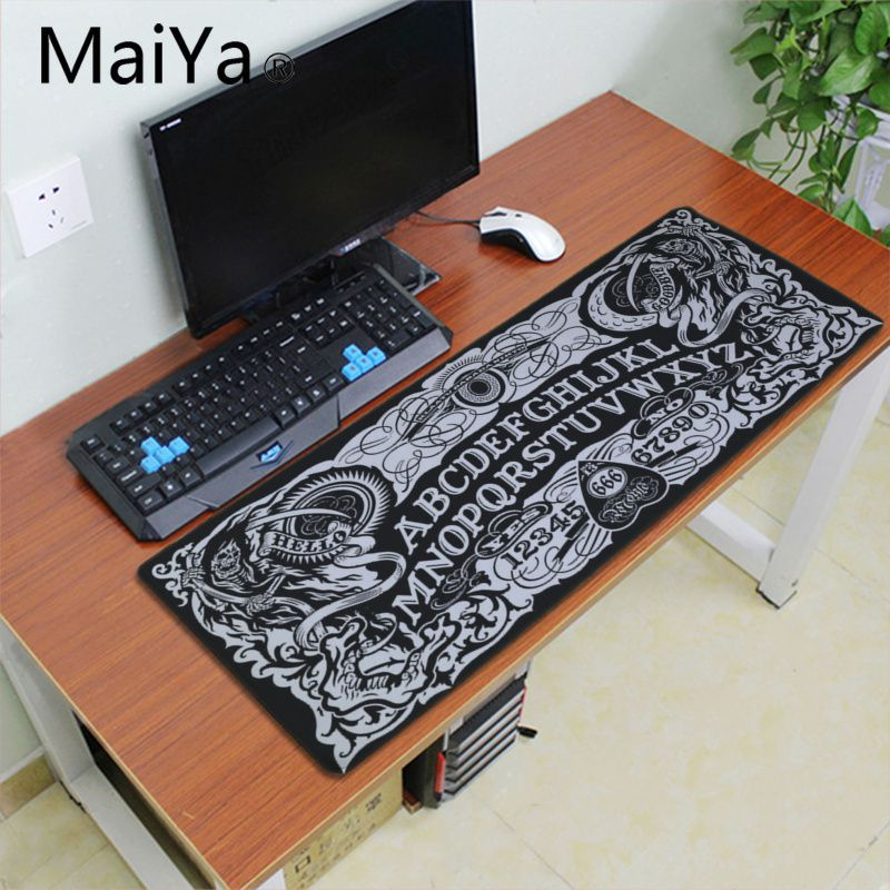 ALI shop ...  ... 33002506248 ... 3 ... Maiyaca Ouija Board Rubber Mouse Durable Desktop Mousepad 700*300mm gaming mouse pad Speed Keyboard Mouse mat Laptop desk pad ...