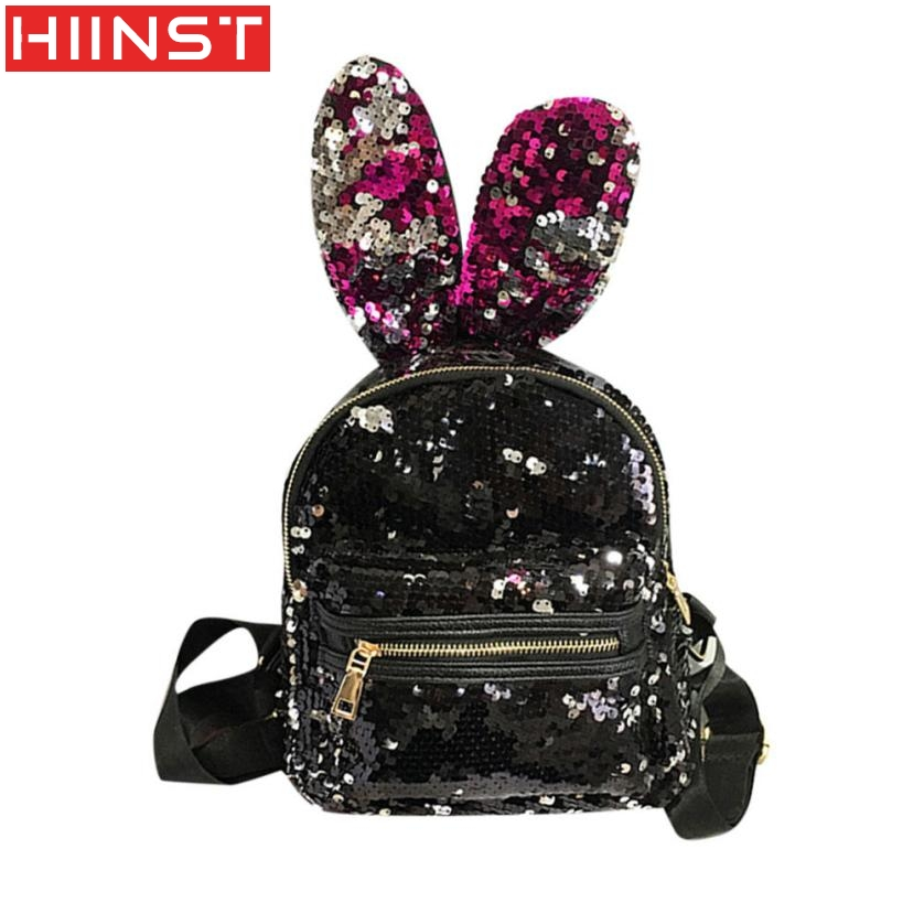 Fashion Girls Sequins Backpack Women Leisure School Bag Travel Pack Backpacks  Designer High Quality MAY10