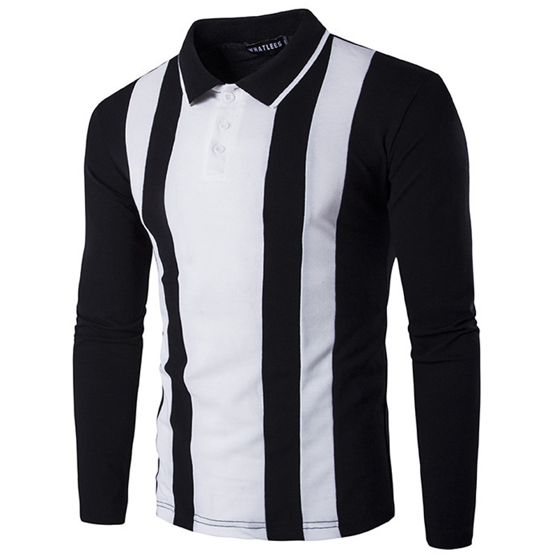 New Black White Polo Shirt Men Polo Homme 2016 Autumn