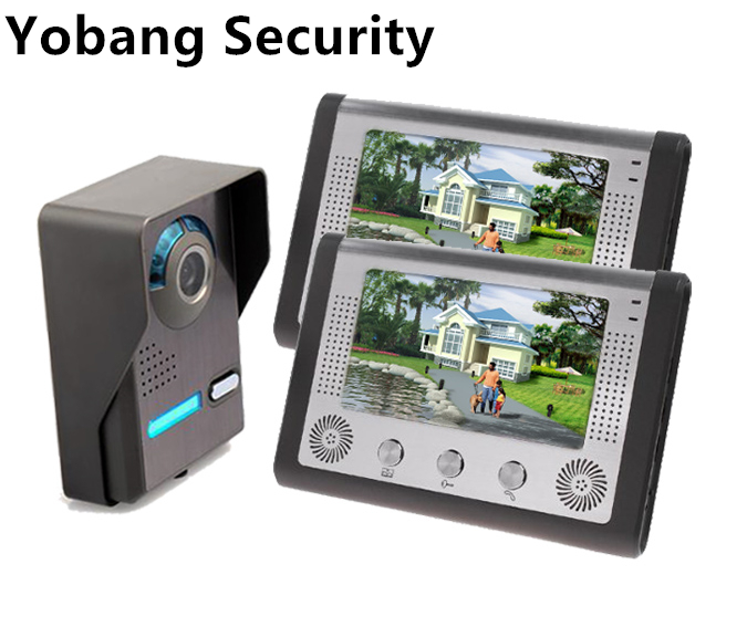 Yobang Security freeship 7Inch Video Intercom Door bell Phone Kit intercom system monitor outdoor with waterproof & IR camera yobang security 7 inch video door phone visual doorbell doorphone intercom kit with metal villa outdoor unit door camera monitor
