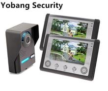 Yobang Security freeship 7Inch Video Intercom Door bell Phone Kit intercom system monitor outdoor with waterproof & IR camera