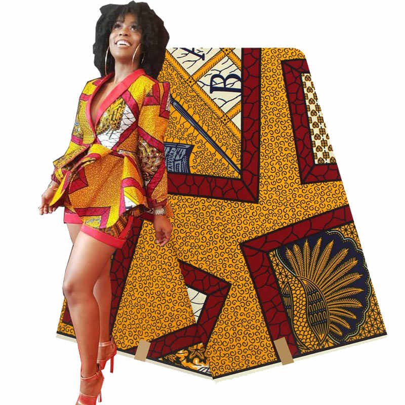 2018 ใหม่ cottonWax เสื้อผ้าแอฟริกันผ้าฝ้าย 100% คุณภาพสูงแอฟริกันผ้า 6 หลางานแต่งงาน H180729
