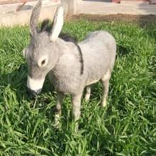 big lovely simulation donkey toy polyethylene&furs gray donkey doll gift about 40x36cm