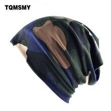 TQMSMY Унисекс Случайные Шляпы для Женщин Шапочки Весна Камуфляж мужская Маскарад маска Beanie Двойного Назначения Крышка Для Мужчин хлопок Шапки шарф