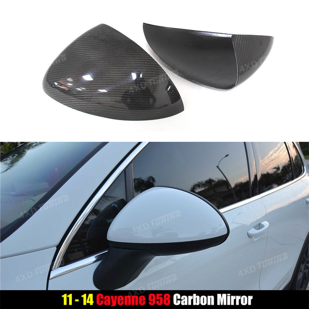 For Porsche Cayenne 958 carbon Mirror cover Add on Style Carbon Fiber Rear Side View Mirror Cover car style 2011 2012 2013 2014 стоимость