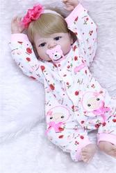 22 Bebê reborn Boneca Princesa Menina Bonecos de corpo inteiro Suave Silicone Bebês Meninas Realistas reais bonecas nascidos bebe real bonecas reborn