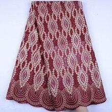Нигерийская кружевная ткань 2019, африканская швейцарская ткань, Высококачественная французская вуаль, кружева в Швейцарии для свадьбы A1506