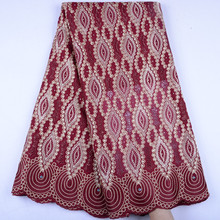 Nigerian Lace Fabrics 2019 African Swiss Voile Lace Fabrics High Quality French Voile Lace in Switzerland For Wedding A1506