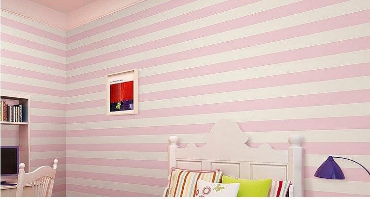 Roze streep behang voor muren verticale gestreepte wallpapers 3d