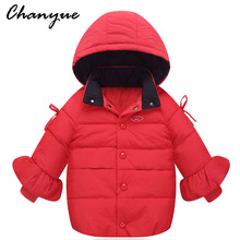 Chanyue Girls Jacket Winter Down Coat Jacker For Girls Hooded Kids Warm Children Outerwear Coat For Girls Clothes  7-12 years
