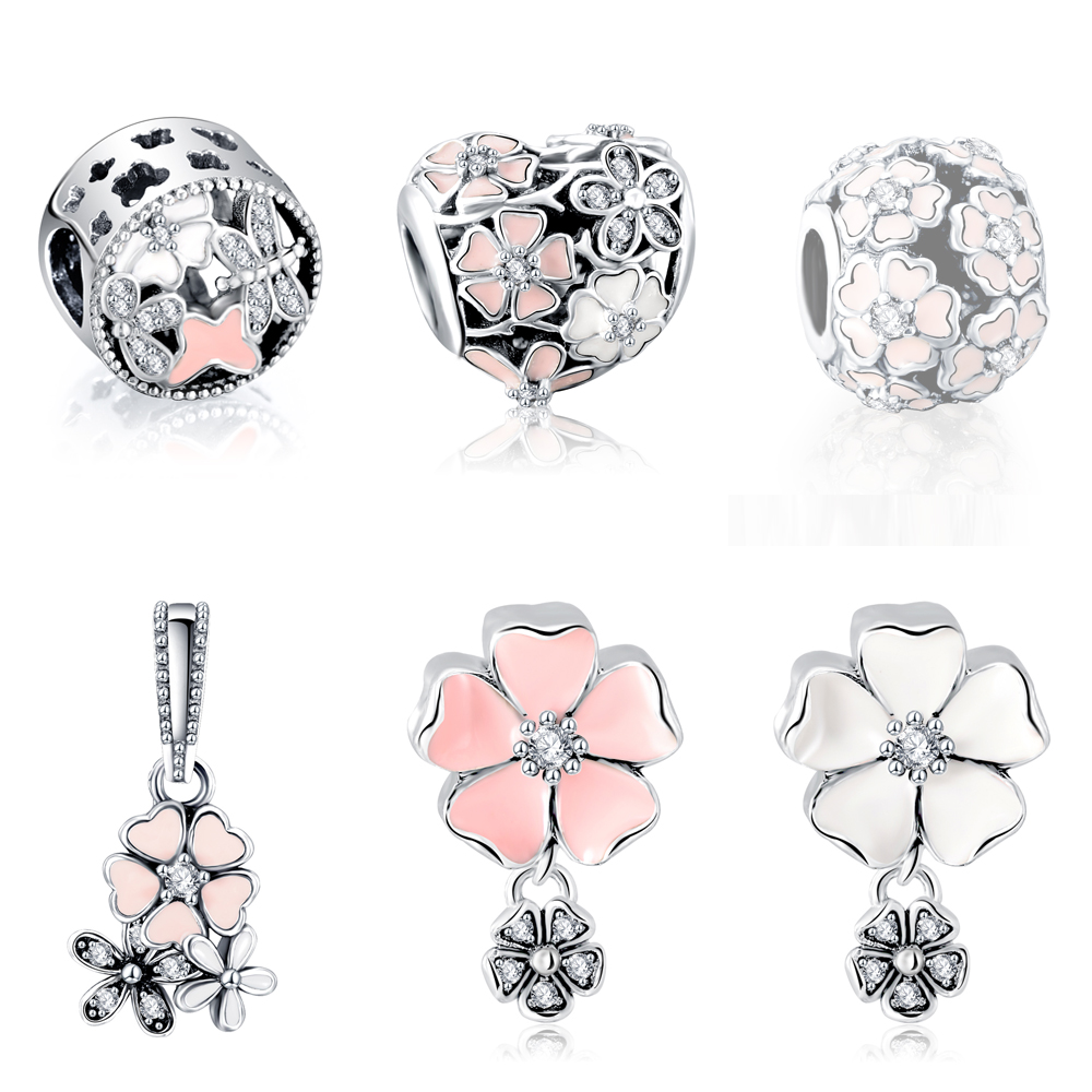 Aliexpress Hot Sale 100% 925 Sterling Silver Poetic Blooms Charm Beads Fit Original Charm Bracelet Authentic Luxury DIY Jewelry