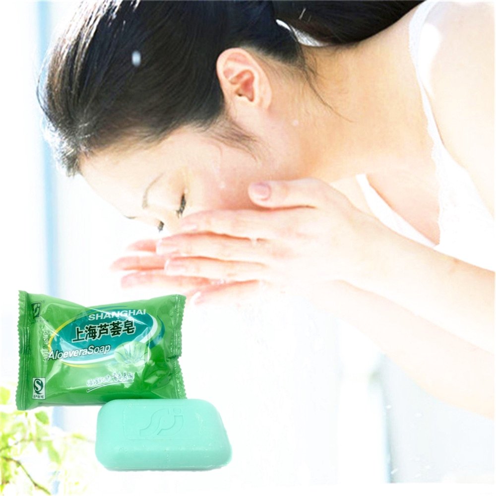 Nice Effect ALOEVERA Natural Active Enzyme Anti-wrinkle Skin Whitening Soap For Private Parts Fade Areola