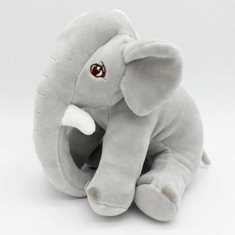象の人形ぬいぐるみ羽綿充填ベビーパフ枕ベビールーム装飾枕
