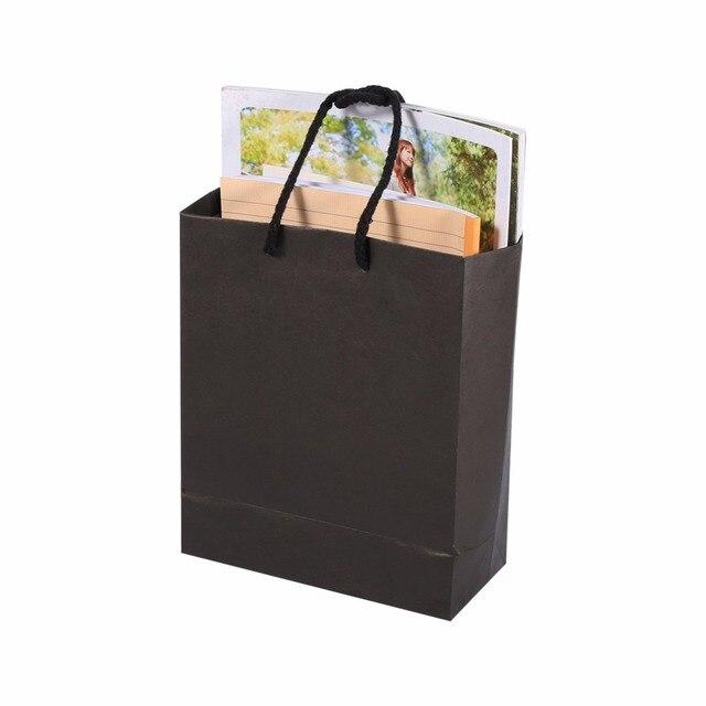 Célèbre 10 Pcs Noir Kraft Papier Cadeau Sacs De Mariage Emballage De  ZS41