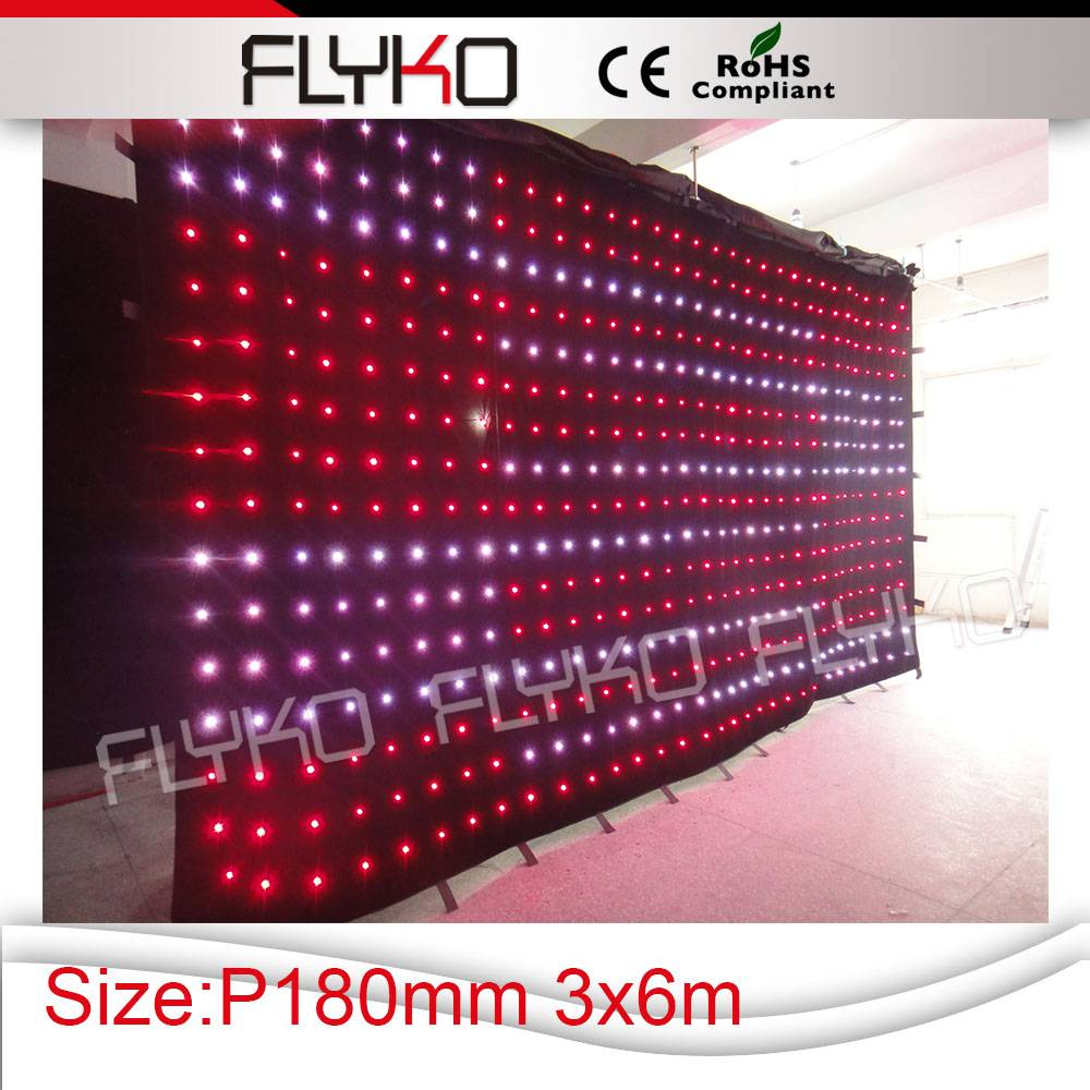 stage background professional light wedding decorations led video curtain