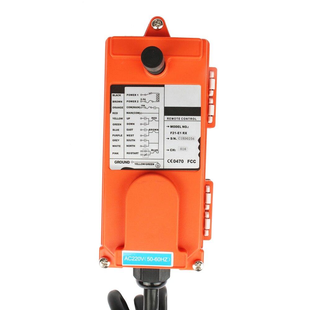 DIANQI télécommande industrielle grue de levage bouton poussoir avec 8 boutons 1 récepteur + 1 émetteur pour camion grue de levage - 5