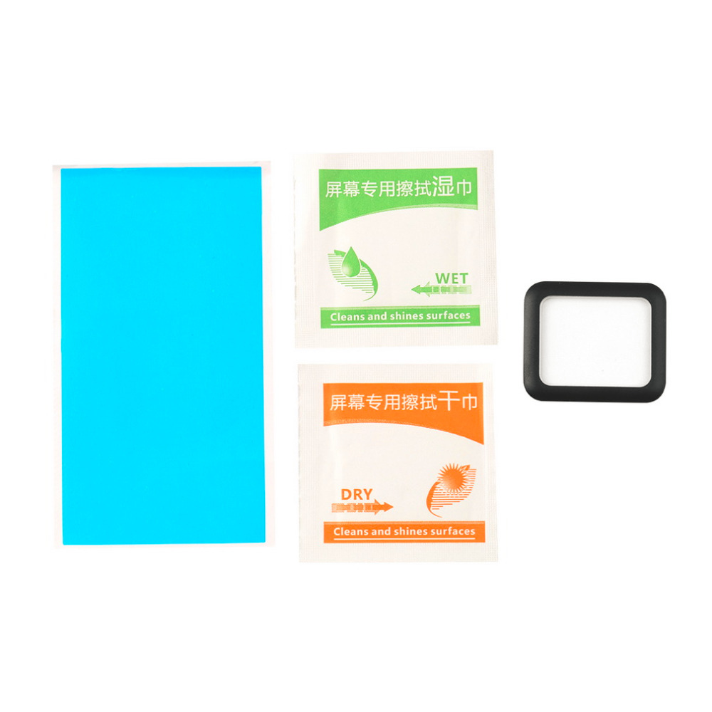 1 Set Chemical Processed Tempered Glass Fiber 0.2mm Screen Guard Protector Film for iWatch for Apple Watch Clock 38mm