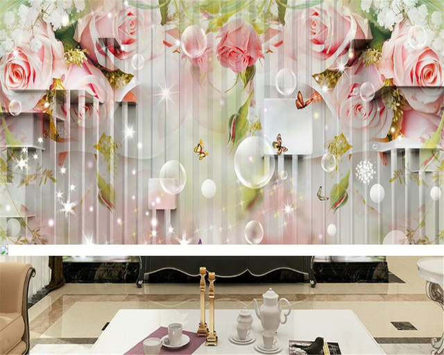 Carta Da Parati Rosa A Strisce : Beibehang papel de parede decorazione della casa carta da parati