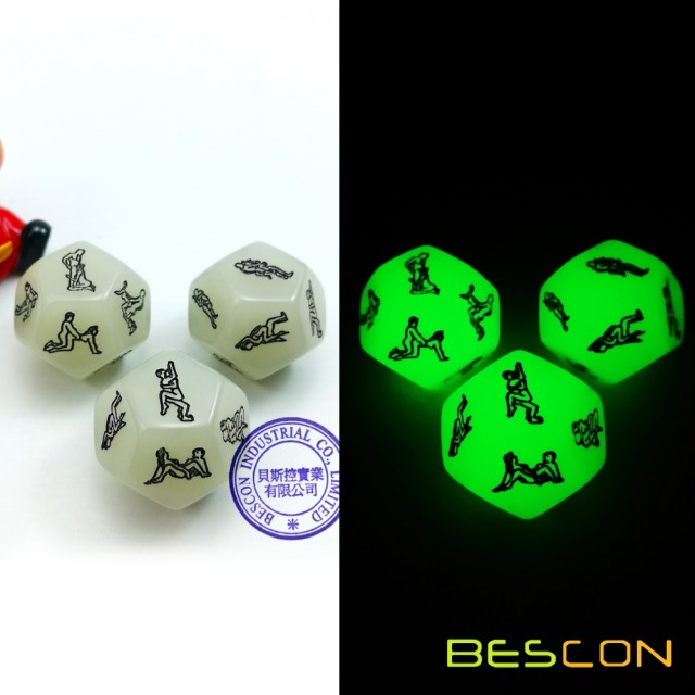 Glowing 12 Sides Love Dice Lover Sex Position Luminous Dice for     Glowing 12 Sides Love Dice Lover Sex Position Luminous Dice for Adult  Couples Dirty Dice Game