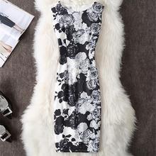 Fenghua Brand Elegant Summer Dress Women 2018 Casual Vintage Floral Office Pencil Bodycon Dress Female Plus Size 4XL Vestidos