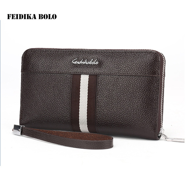 2016 Famous Brand Clutch Men Wallet Male Leather Handy Bags Long Design Business Carteras Mujer Wallets Business Casual Purse
