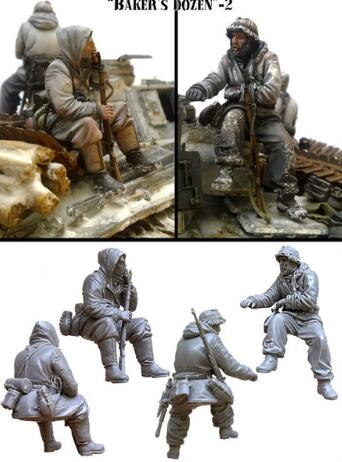 1/35 Resin Figure German Soldier 2pcs (no Include Tank) Model Kits