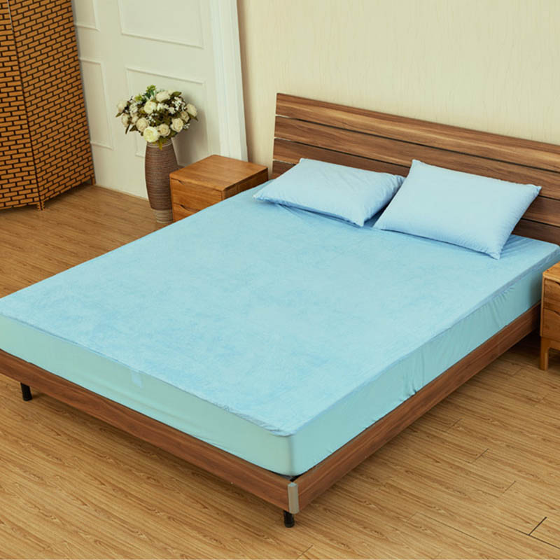 Bed Sheets Portable Anti Mites Bed Bug Proof Dust 100% Waterproof Mattress Cover Mattress Protector Fitted Sheet 1Pc