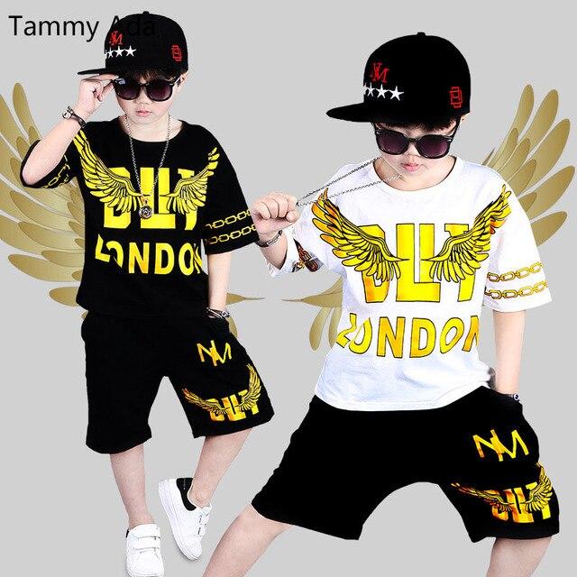 5b21c55c9cab Tammy Ada Children Street Dance Clothing for Kids Boys Girls Two ...