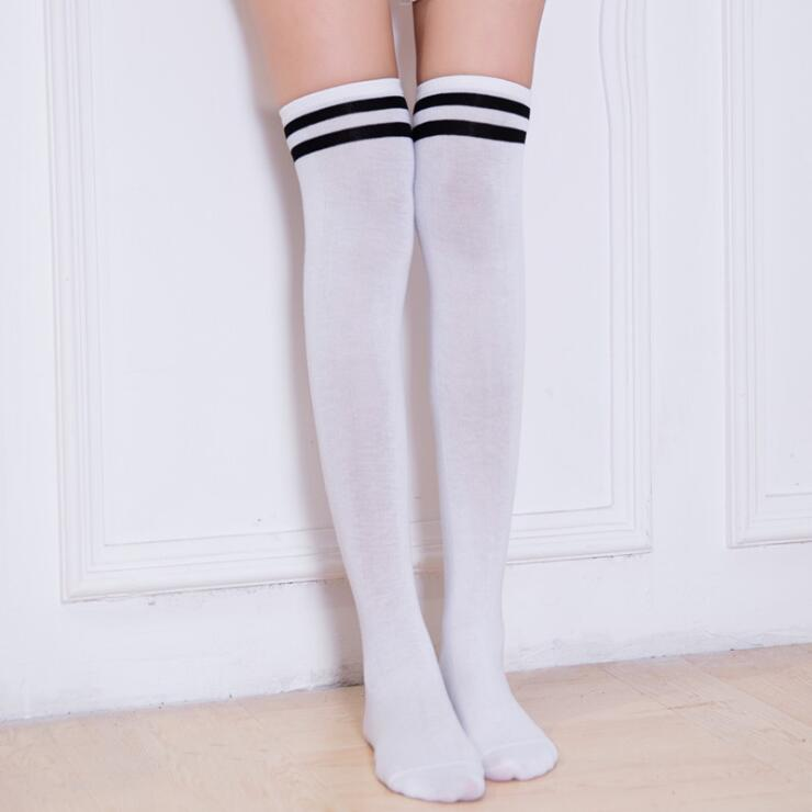Womens Autumn Winter Warming Stripes Stocking Thigh Highs For Anime School Uniform in Costume Accessories from Novelty Special Use