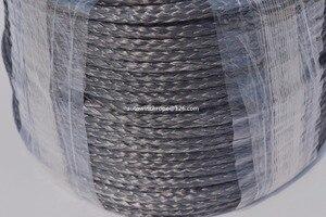 """Image 3 - Corde de treuil synthétique noire de 5mm * 100m, câble de treuil datv de 3/16 """"Dia pour des accessoires tout terrain, corde de Spectra de 12 tresses, corde de Plasma"""