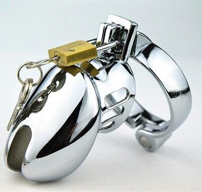 Men Short Male Cages Virginity Lock Chastity Lock padlocks Penis Ring Penis Lock Cock Ring Chastity Device Cock Lock