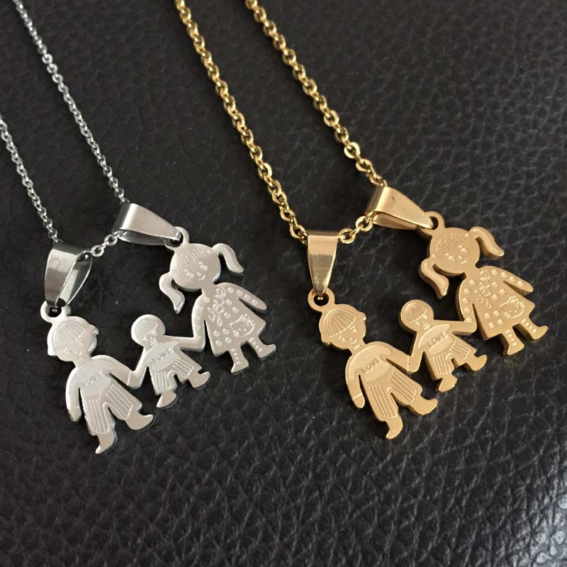 c6c0e8ab8 Mother's Day Gift Valentine's Day gift Stainless Steel Mama Family Necklaces  Jewelry Love Mama Father Son Pendant Necklace gifts