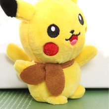 цена на 2018 Super HOT Pikachu Gift Plush Stuffed Toy 13CM Pikachu Plush Toy Doll pendant Gift Toy Doll G0005
