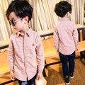 2017 Nuevos Muchachos de la Llegada Camisa y Blusas de Algodón A Cuadros de Moda espesan Los Niños de invierno 4-13 Años Los Niños de la Camisa A Cuadros muchacho de la Ropa
