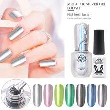 Che Gel 6ml/15ml Metallic Silver Gel Polish Top Base Coat Soak Off UV Lamp Varnish Lacquer Nail Salon Gel Polish Chic Manicure