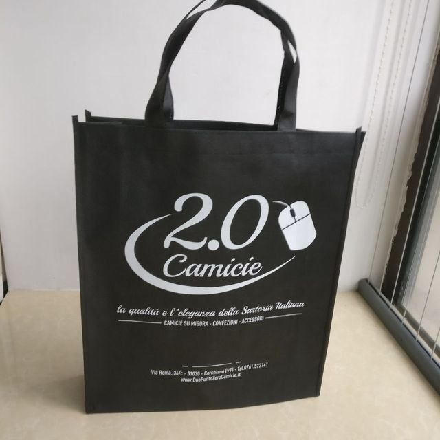ad88d1490a 500pcs lot 30x40Hx10cm Customized Company Logo Printed Gift Box and Clothes Non  Woven Reusable Shopping Bags for Ads By Courier