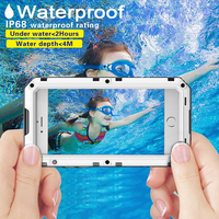 Carcasa IP68 a prueba de agua a prueba de golpes para iPhone 7 6X8 6S Plus XS Max cubierta de Metal al aire libre Anti-golpe fundas de teléfono + película