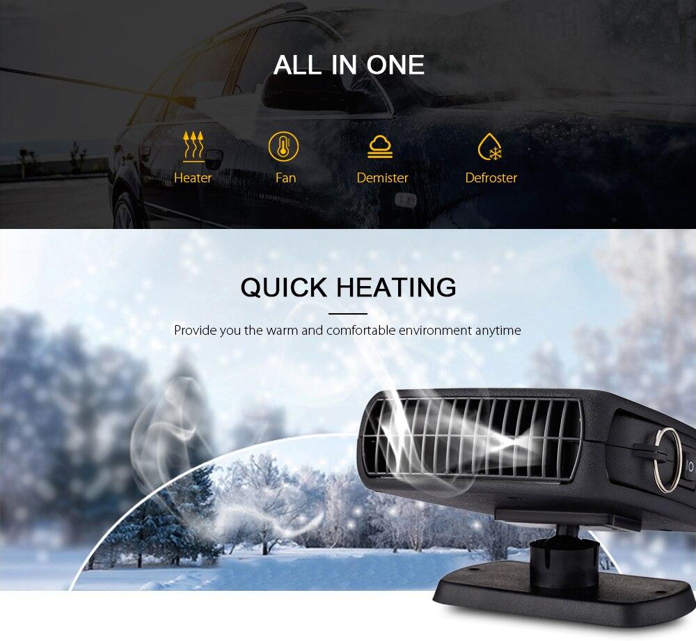 Zeepin 12 v 150 watt Auto Styling Auto Heizung Heizung Fan 3 In 1 Beheizte Windschutzscheibe Demister Defroster Trockner Für fahrzeug 360 Grad